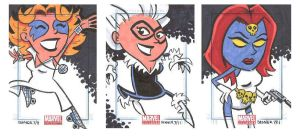 Marvel Universe Sketchcards 14 by thecheckeredman