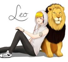 Leo and the lion by kshaGL
