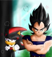 Vegeta and shadow by FANTASY-WORKS-JMBD