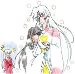 Iunyasha,Kagome y Sesshomaru  I Love you! by marthamarri