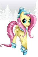 Winter Fluttershy by Musapan