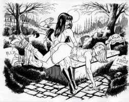 Vampirella Spanking Buffy by AndyPrice by poopoopie