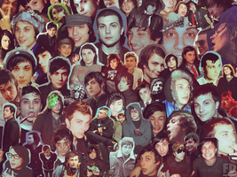 Frank Iero Collage-Wallpaper by FeeDouce