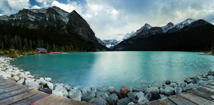 Lake Louise Pano by KRHPhotography