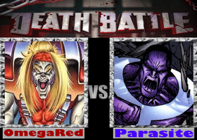 DEATHBATTLE: OmegaRed vs Parasite by Mystic-Man