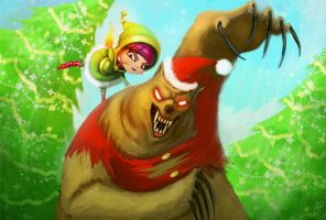 Annie and Tibbers Xmas by iamtretre