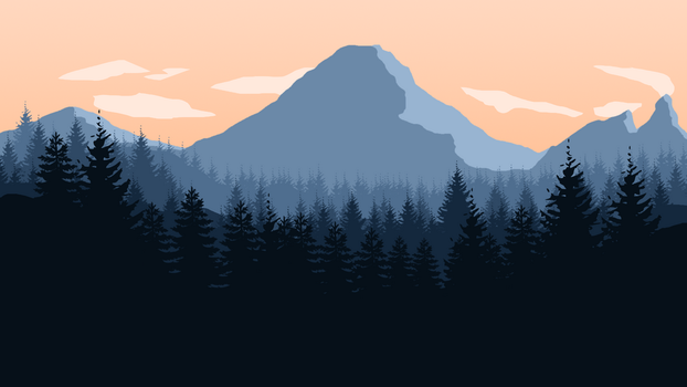 Mountains 1920x1080 by Miikkelson