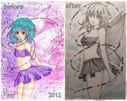 before and after by Sally-Kimiko