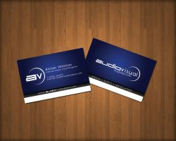 Audio Visual Business Card by blaqdesign