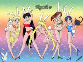 Sailor Moon Bunnies Redone by chaotic-chick