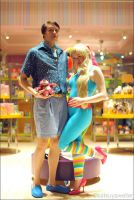 Barbie and Ken costumes - TS3 by hexterah