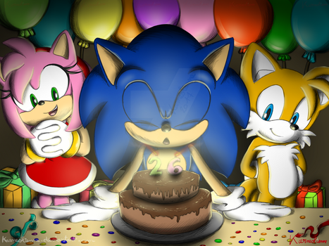 Happy Birthday Sonic !!! by Karneolienne
