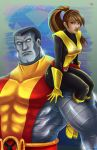 Kitty and Colossus by TyrineCarver