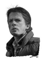 Marty McFly - Digital Painting by SilverbackDesign