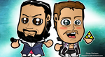 Damien Sandow and Cody Rhodes Chibi Wallpaper by kapaeme