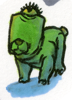 Little Marker Monster: One-Eyed Dog Creature by jbyrd117