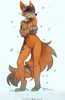 It's getting cold by FoxInShadow