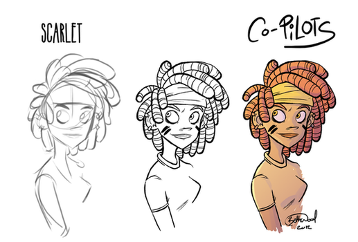 Step by Step Scarlet by MyHatsEatPeople