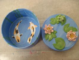 Koi Pond Jewelry and Trinket Box by Sorenli