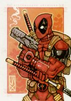 deadpool marvel 70th by johnjackman