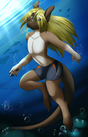 Swiming by WolfRoxy