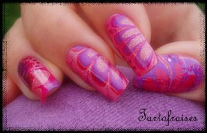water marble right hand by Tartofraises