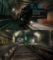 Underground Train concepts by everlite