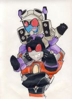 blitzwing and starscream by masterplushie01