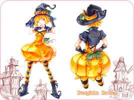 Pumpkin Fashion Design by Naschi