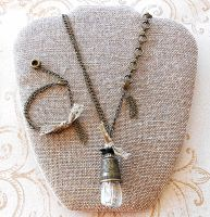 Industrial Seamstress Jewelry Set by random-wish