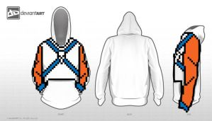 8-Bit Design Challenge : Barbarian Hoodie by darkchapel666