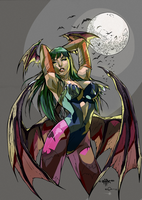 Morrigan the Succubus Colors by HaphazardMachine