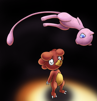 Mew and Magby by skeddles