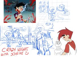Crazy night with join.me by paurachan