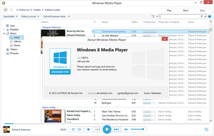 Windows 8 Media Player skin v 1.5.1 Beta (32/64) by luxorus