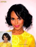 Kerry Washington Touch-Up by asmith9O