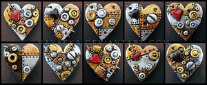 Steampunk Pendants Set 1 by Kavaeka
