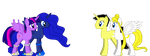 Twilight and Luna met Serena and Seiya by Mk513