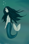 blue mermaid by blossoms256