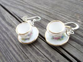mini teacup with saucer kawaii by kickthebucket
