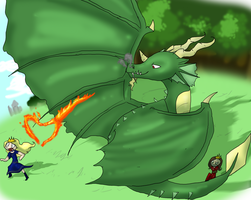 Dragon of Grindly Grun by MythIsBack
