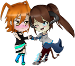 Aika X Liandry (Art Trade) by xXSilver146Xx