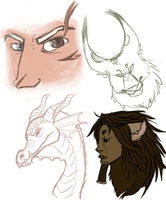 Doodles1-18-2014 by CheshireCatGrin