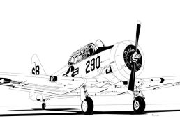North American AT-6 Texan by bowdenja