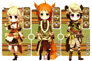 AUCTION: Adoptable Set 4 [CLOSE] by PANDEK0K0
