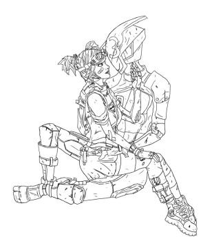 Zero and Gaige by Jimmayelskitzo