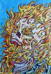Ghost rider - Eat Chain (color version) by Thelostsoulofpop