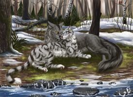 [Collab] Graystripe and Silverstream by Vialir