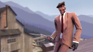 SFM Poster: The Smug Spy by PatrickJr