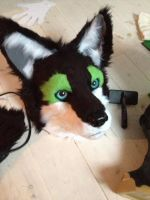 Siku-Lee WIP fursuit head by WithCandyDancing